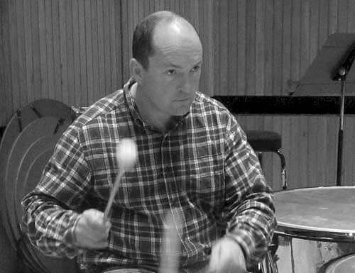 Timpanist Simon Carrington